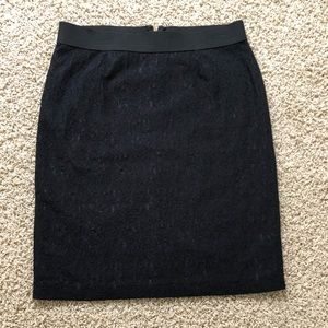 Black Alfani lace pencil skirt in size 14.